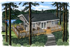 """House Plan 20003   Cabin    Plan with 816 Sq. Ft., 3 Bedrooms, 1 Bathrooms More """"Tiny"""" house dreams. :)"""