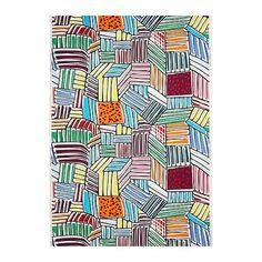 Curtains - IKEA Fabric - Lillivi Multicolour - Pencil Pleat, Eyelet, Tab Top