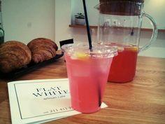Pink lemonade, Flat White artisan cafe, Athens, Greece