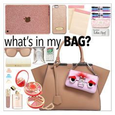 """In My bag"" by simona-altobelli ❤ liked on Polyvore featuring Fendi, MICHAEL Michael Kors, Aspinal of London, Vera Bradley, Paper Mate, Pupa, Smith & Cult, Linda Farrow, Korres and WhatsInMyBag"
