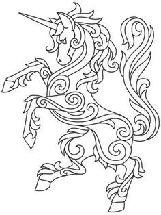 Gilded heraldry unicorn urban threads unique and awesome embroidery designs Unicorn Coloring Pages, Coloring Book Pages, Embroidery Designs, Urban Threads, Quilting, Quilling Patterns, Quilling Designs, Celtic Art, Celtic Dragon