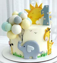 Baby Girl Birthday Cake, Baby Birthday Cakes, Baby Boy Cakes, Girl Cakes, Baby Shower Cakes, 1st Bday Cake, Creative Birthday Cakes, Beautiful Birthday Cakes, Animal Cakes