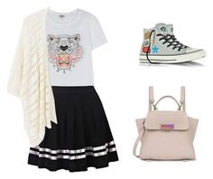 """Dating Outfit #3"" by dwiastinasari ❤ liked on Polyvore featuring Kenzo, MANGO, Converse and ZAC Zac Posen"