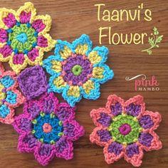 Taanvi's Flower, crochet pattern by Pink Mambo