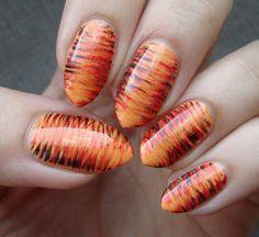Tygrysi fan brush #fanbrush #nails #nailart