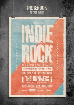 Indie Flyer/Poster — Photoshop PSD #grunge #festival • Available here → https://graphicriver.net/item/indie-flyerposter/10670557?ref=pxcr