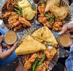Food Pics, Food Pictures, Indian Food Recipes, Vegetarian Recipes, Chaat Recipe, Good Food, Yummy Food, Evening Snacks, Naan