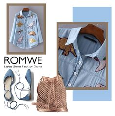 """""""ROMWE"""" by salam-cdxxi ❤ liked on Polyvore featuring nooki design and Gap"""