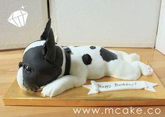 ~french bulldog cake~ Boston Terrier Cake, Boston Terriers, Puppy Birthday Cakes, Bulldog Cake, Cake Designs For Kids, French Bulldog Art, French Bulldogs, Fondant Animals, Bullen