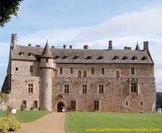 Château de la Roche-Jagu Ploëzal, Côtes-d'Armor, Bretagne, France.