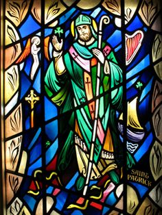 St. Patrick Apostle of Ireland , born at Kilpatrick, near Dumbarton, in Scotland , in the year 387;
