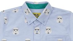 Stormtrooper Button Down Oxford Shirt - Fabric Flavours