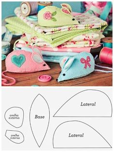 Free pattern to sew Patchwork toys and Felt toys tutorial Felt Patterns, Sewing Patterns Free, Free Sewing, Patchwork Patterns, Free Pattern, Felt Diy, Felt Crafts, Fabric Crafts, Mouse Crafts