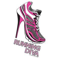 Running Diva T-Shirt from GoneForaRUN.com  #goneforarun