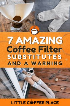What do you do when you run out of coffee filters? Can you really use a sock? We'll share seven amazing coffee filter substitutes, as well as a warning about a common household item you absolutely should NOT use! Whole 30 Coffee, Mud Coffee, Coffee Works, Decaf Coffee, Easy Coffee, How To Make Coffee, Coffee Filter Substitute, Coffee Facts