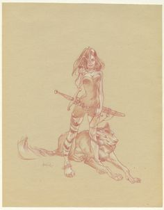 Claire Wendling has such a natural wit and understanding of form that it's hard for me to turn away from her work. Some have commented that she has a look that's usually reserved for male artists but that's not the case, though it's easy to see why some see her use as masculine (I once did too). The fact is she is not transcending gender either. She's taking her whole and lending it to her design and compositional efforts.
