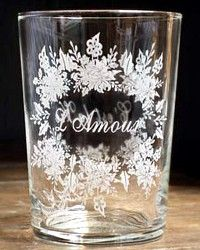French L'amour Glass