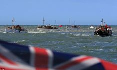 """A flotilla of 'little ships' commemorates the 75th anniversary of WWII's Operation Dynamo when 338,226 allied troops were plucked off the beaches of Dunkirk in what came to be known as """"the miracle of Dunkirk."""""""