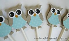 Hey, I found this really awesome Etsy listing at https://www.etsy.com/listing/176468083/owl-cupcake-toppers-aqua-owl-baby-shower