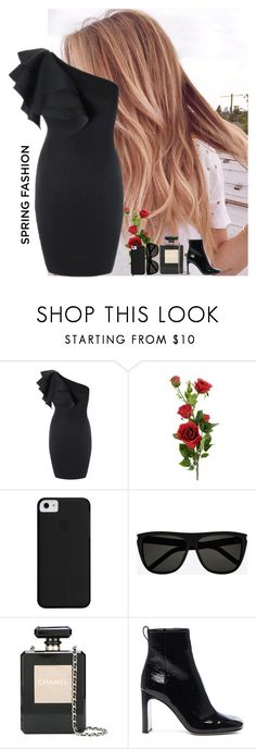 """""""Stay strong 💪"""" by perriedasilva ❤ liked on Polyvore featuring Yves Saint Laurent, Chanel, rag & bone and outfit"""
