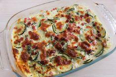 Gratin de Courgettes à la Mozzarella et au Basilic - Délicimô ! Blog de Recettes de Cuisine et Pâtisserie Cake Factory, Vegetarian Cooking, Vegetable Pizza, Quiche, Entrees, Zucchini, Gluten, Keto, Nutrition