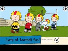 Snoopy's All Star Football Storybook App for Kids - YouTube