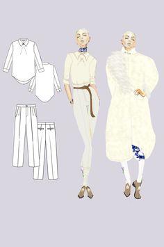 Fashion Illustration by Mikaila Von Merr (Jasso) Columbia College Chicago