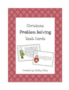 This resource includes eight Christmas-themed problem-solving task cards.Print and laminate the task cards, photocopy a recording sheet for eac...