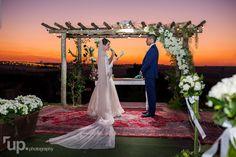 Votos da noiva no pôr do sol