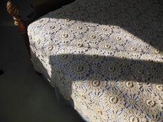 Vintage Crochet Bedspread 1940s Handmade by loonlakevintage