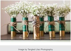 For the hunting enthusiasts, add flowers to shotgun bullet casings | WedAZ.com | Wedding Articles