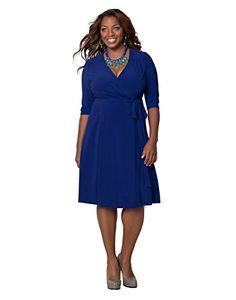 Essential Wrap Dress (0X, Cobalt Blue) Kiyonna http://www.amazon.com/dp/B00GU4QUO0/ref=cm_sw_r_pi_dp_Px15ub1QWCZ7H