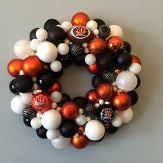 Cincinnati Bengals Black and Orange Ornament by NotJustDoorDecor, $80.00