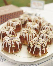 Mini Almond Bundt Cakes, Martha Stewart does it again...
