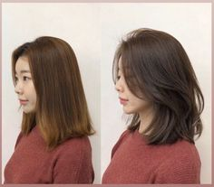 Korean Medium Hair, Korean Short Hair, Korean Hair Color, Medium Hair Styles For Women, Medium Hair Cuts, Shot Hair Styles, Curly Hair Styles, Asian Haircut, Asian Hairstyles