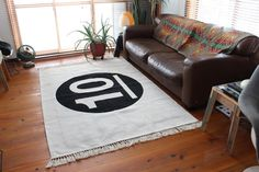 140cm x 200cm 遊びゴコロをプラスしたフリンジラグ【10】:ヴィンテージ&レトロ,ホワイト系,Home's Style(ホームズスタイル)のラグ・マットの画像
