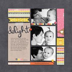 #papercraft #scrapbook #layout.  delight - Club CK - The Online Community and Scrapbook Club from Creating Keepsakes