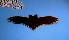 Halloween Bat Silhouette (Size small) - Pipistrello di Halloween (piccolo) by DropsofBrightness on Etsy Halloween Bats, Halloween Decorations, Bat Silhouette, The Darkest, Glow, Unique Jewelry, Handmade Gifts, Etsy, Vintage