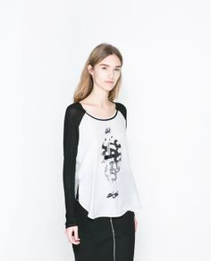 Image 2 of PRINTED T-SHIRT from Zara 8000ft