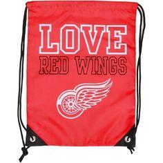 Detroit Red Wings Women's Love Drawstring Backpack - $7.99