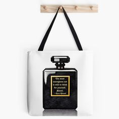 Chanel Coco Noir Shopping Tote Bag: Coco Chanel by ChezLorraines