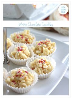 White Chocolate Crackles - Last Minute Sprinkles Party
