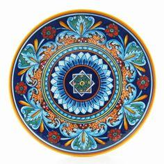 Deruta Ceramics, decoration by Eugenio Ricciarelli....love the colors & richness of the design