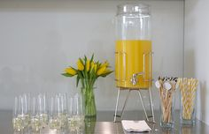 8oz GoVino flutes for a mimosa bar $12.95 for a set of 4 - drink dispenser