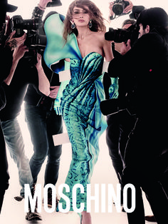 Gigi Hadid stars in Moschino's Spring Summer 2017 campaign
