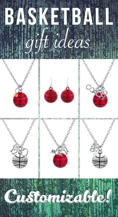 Customizable Basketball Jewelry! Great Baseketball Gift. Attack Your Passion!