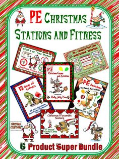 PE Christmas Stations and Fitness- 6 Product Super Bundle