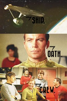 My ship. My oath. My crew. The heart of Captain Kirk #startrek #tos
