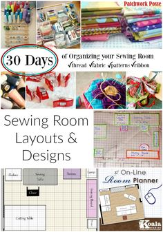 Sewing Room Layout Ideas - what a great spot for layout ideas. I've been looking at moving things around.