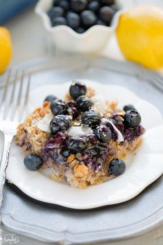 Blueberry Lemon Coconut Baked Oatmeal makes the perfect healthy breakfast